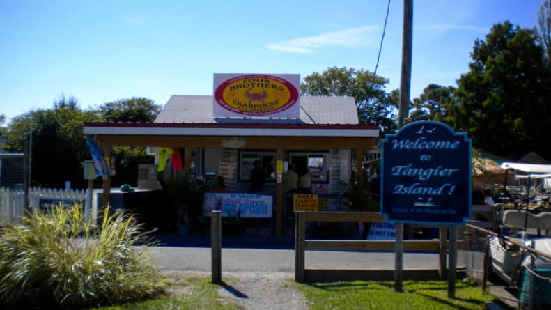 Four Brother's restaurant on Tangier Island