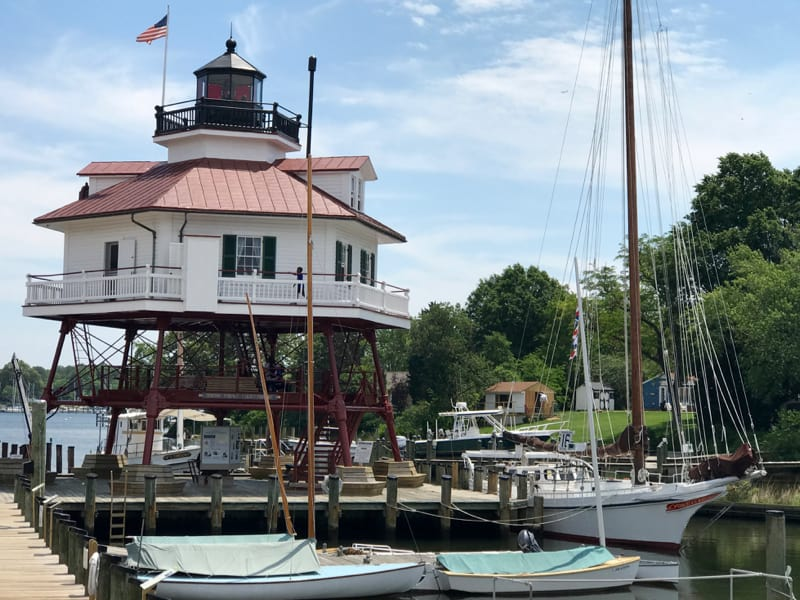 Drum Point Lighthouse at Calvert Marine Museum