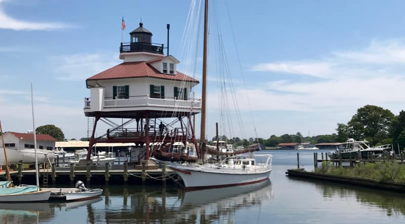 Drum Point Lighthouse at Calvert Marine Museum