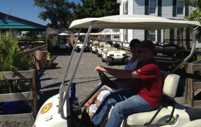 Tangier Island golf carts