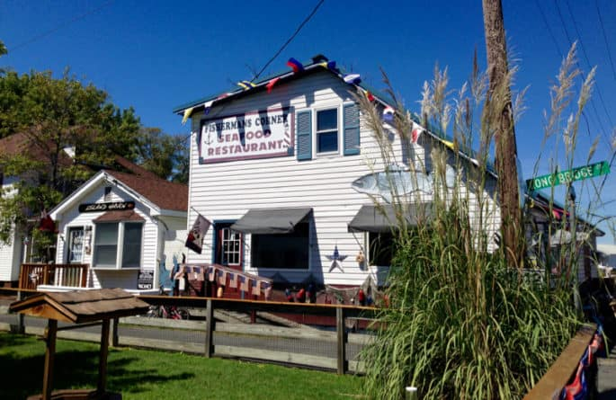 Fisherman's Corner restaurant on Tangier Island