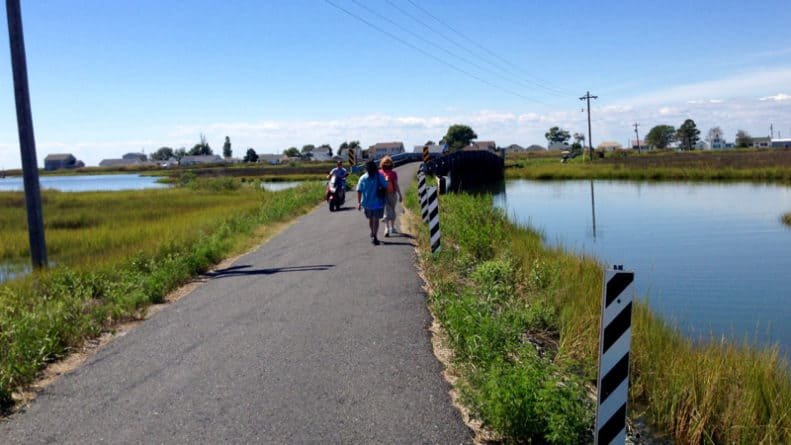 Tangier Island walking paths