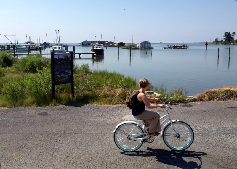 Cyclist on Smith Island