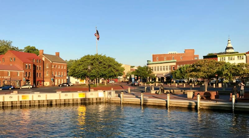 Downtown Annapolis, Maryland from the waterfront
