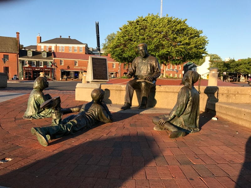 Kunte Kinte Memorial in Annapolis, MD