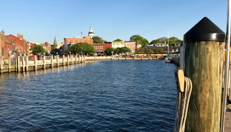 """Early morning on the harbor entrance into Annapolis, called """"Ego Alley"""""""