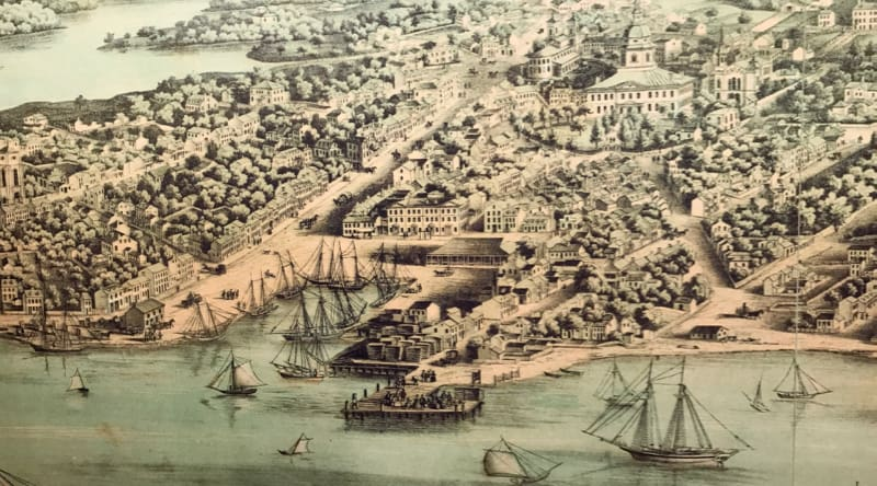 Historic Annapolis map of City Dock