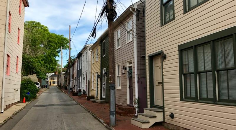 Fleet Street in Annapolis, MD