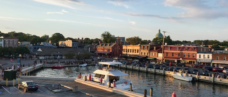 Annapolis' inner harbor now, called Ego Alley or City Dock