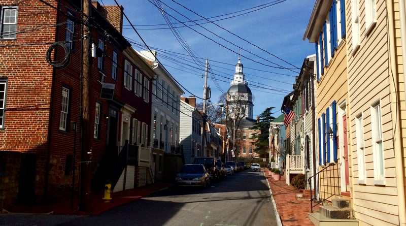 Side street off State Circle in Annapolis