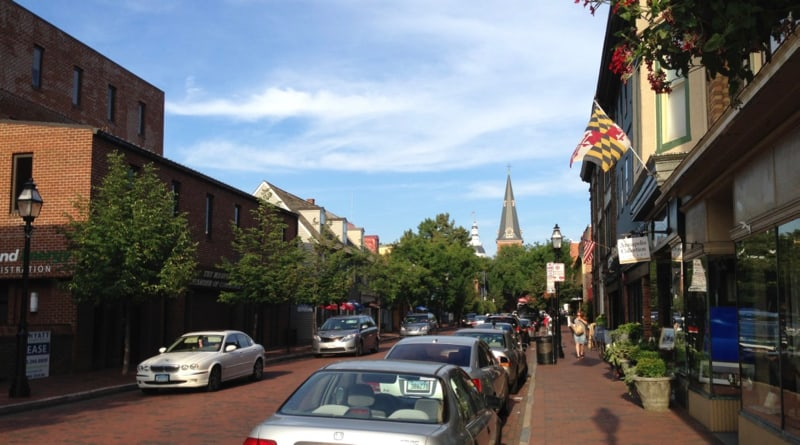 West Street a restaraurant, art gallery section of Annapolis