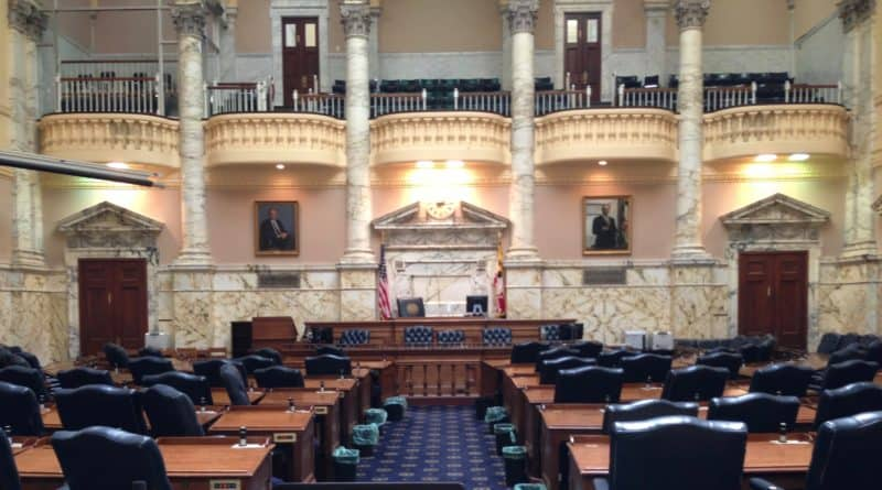 State of Delegates meeting room in Maryland State House