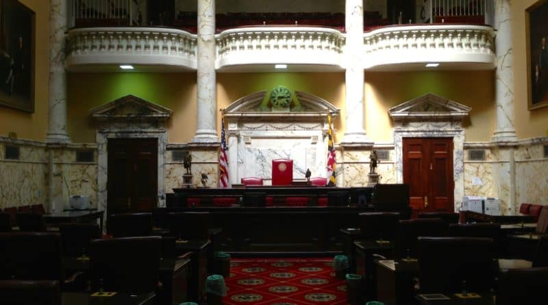 Senate Chamber in Maryland State House