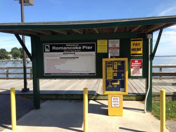 Paystation at Romancoke Pier on Kent Island