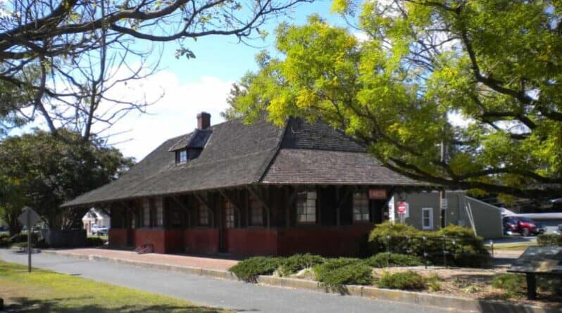 Easton Railroad station, now a bike route