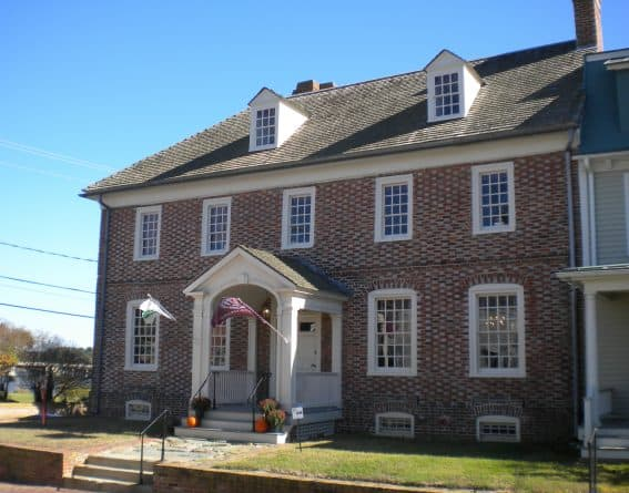 Colonial customs house in Chestertown, MD