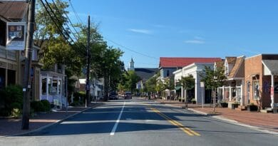 Talbot Street in downtown St. Michaels, MD