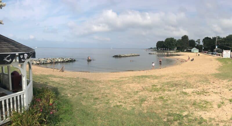 Rock Hall's public beach in Maryland