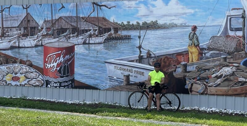 Tilghman Island painting on side of building