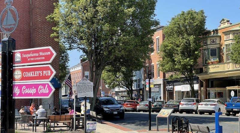 Historic downtown in Havre de Grace, MD