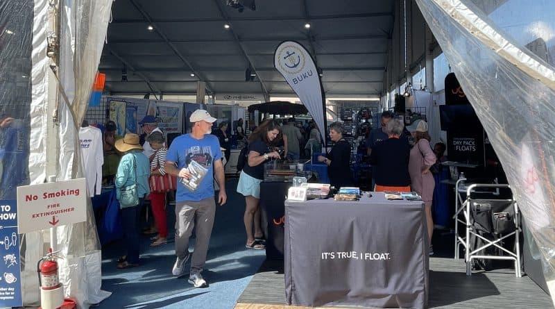 Vendors' tent at 2021 Annapolis Boat Show