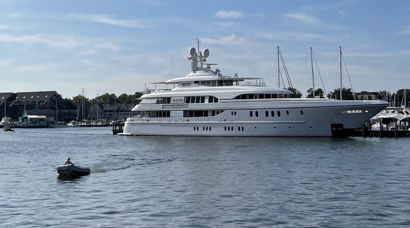 Mega yacht at Annapolis Harbor